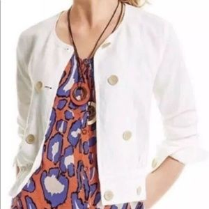 CaBi white linen jacket